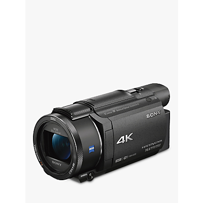Sony FDR-AX53 Handycam with 4K Ultra-HD, Balanced Optical SteadyShot, 8.29MP, 20x Optical Zoom, NFC, Wi-Fi, 3 WhiteMagic LCD Screen, Black