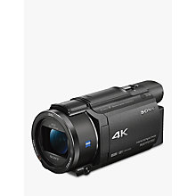 "Buy Sony FDR-AX53 Handycam with 4K Ultra-HD, Balanced Optical SteadyShot, 8.29MP, 20x Optical Zoom, NFC, Wi-Fi, 3"" WhiteMagic LCD Screen, Black Online at johnlewis.com"