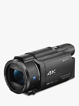 "Sony FDR-AX53 Handycam with 4K Ultra-HD, Balanced Optical SteadyShot, 8.29MP, 20x Optical Zoom, NFC, Wi-Fi, 3"" WhiteMagic LCD Screen, Black"