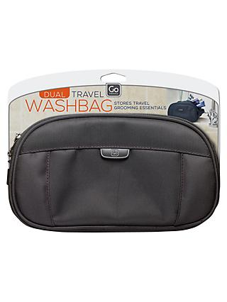 Go Travel Dual Washbag, Assorted