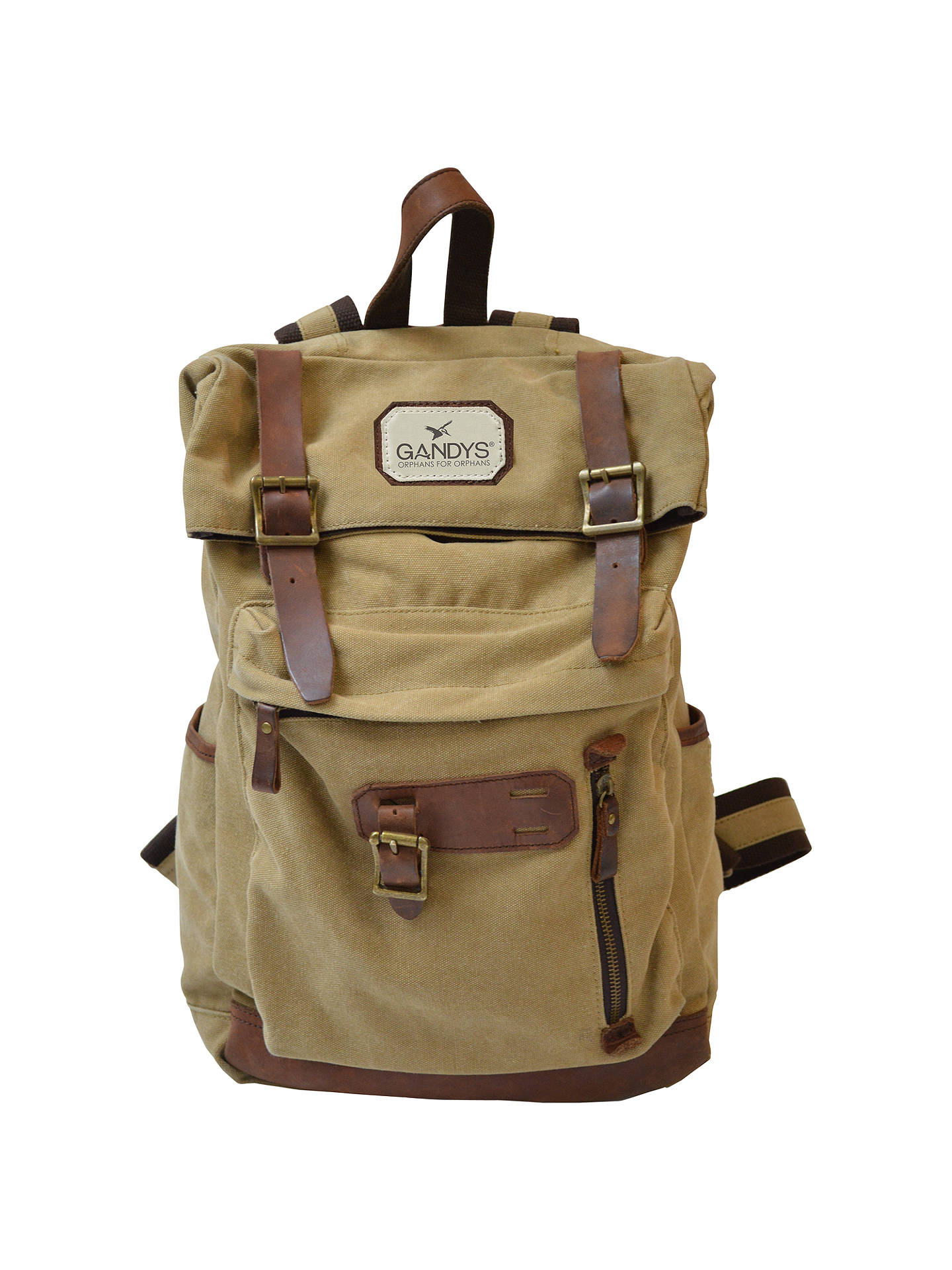 BuyGandys Bali Authentic Voyager Backpack, Beige Online at johnlewis.com ... 0db2f37f97