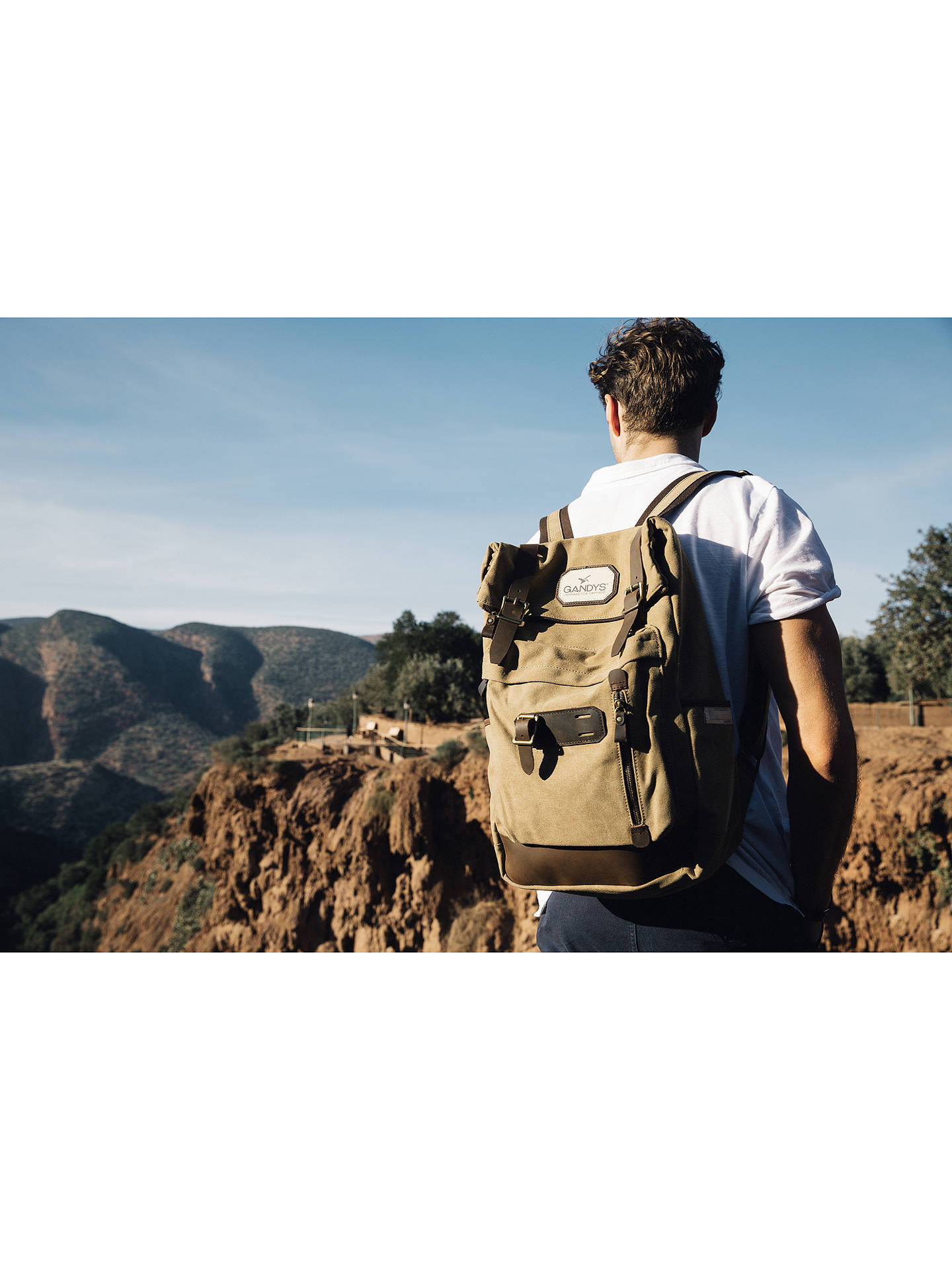 ... BuyGandys Bali Authentic Voyager Backpack, Beige Online at johnlewis.com 85d8b2eb86