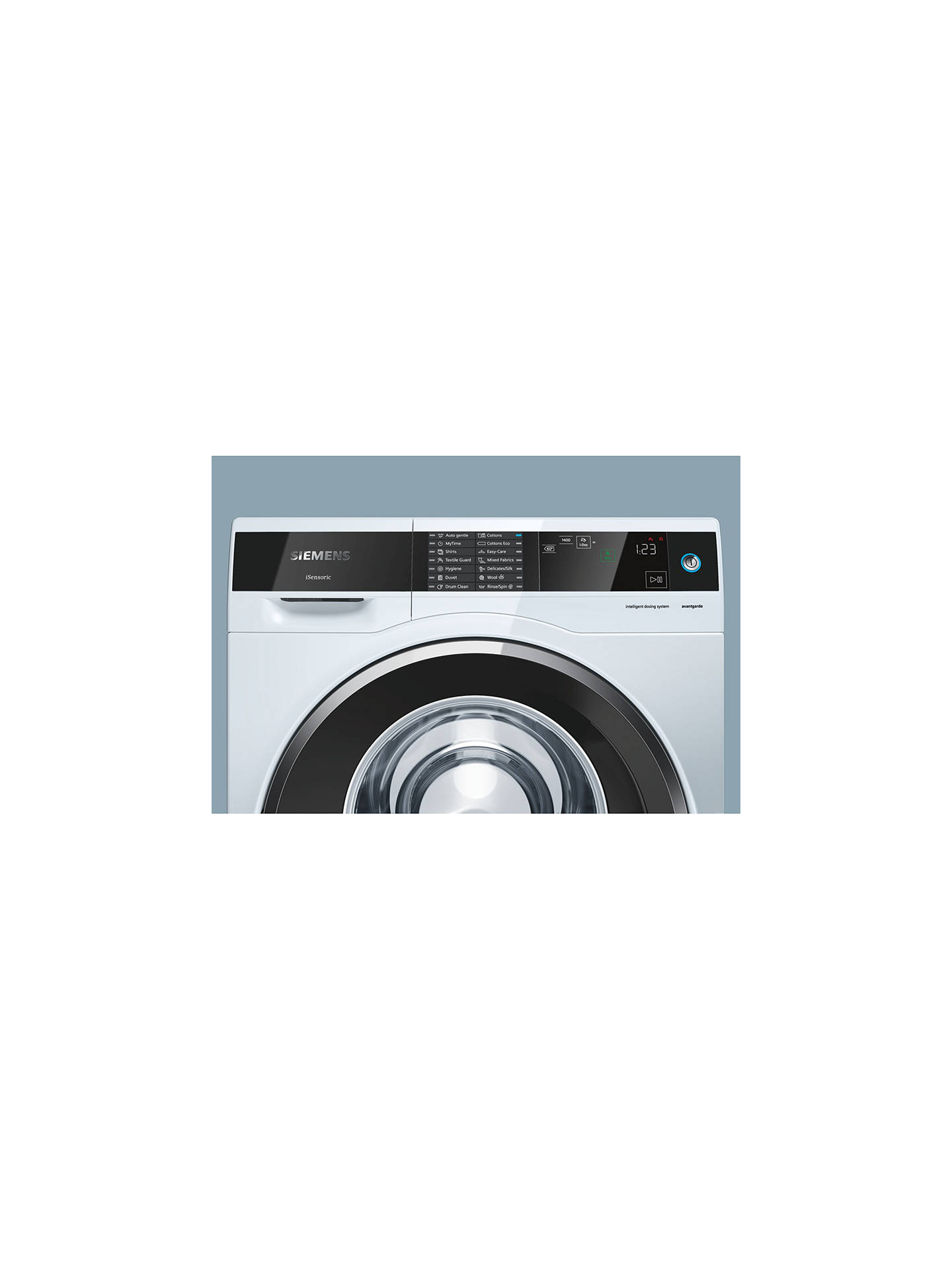 BuySiemens avantgarde iSensoric Freestanding Washing Machine, 9kg Load, A+++ Energy Rating, 1400rpm Spin Online at johnlewis.com