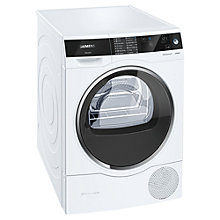 Buy Siemens avantgarde iSensoric Freestanding Heat Pump Tumble Dryer, 8kg Load, A+++ Energy Rating, White Online at johnlewis.com