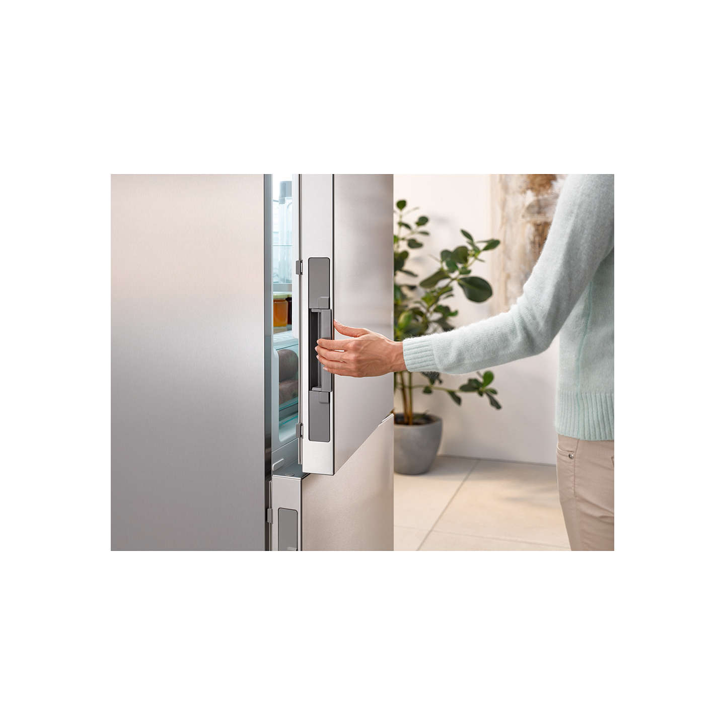 BuyMiele KFN 29233 EDT/CS Fridge Freezer, A+++ Energy Rating, 60cm Wide, Stainless Steel Online at johnlewis.com