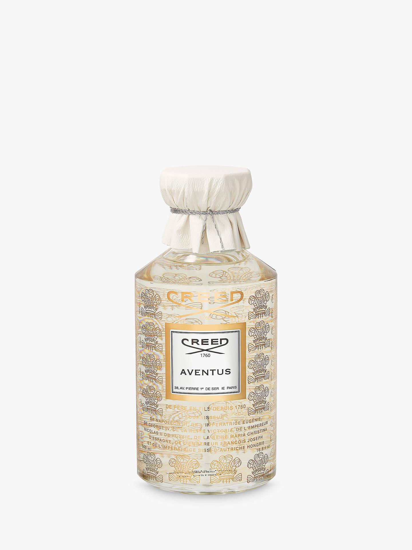 Creed Aventus Splash Eau De Parfum 500ml At John Lewis Partners