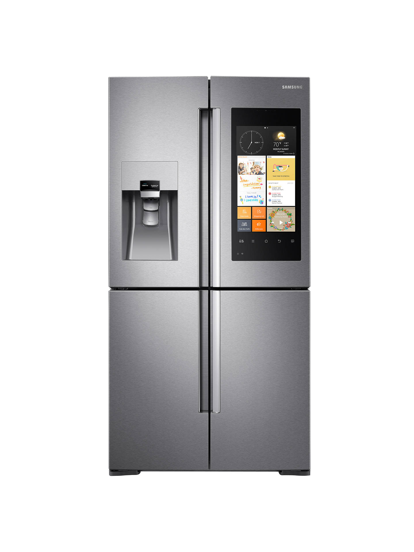 Samsung RF56K9540SREU Family Hub Smart Fridge Freezer, A+