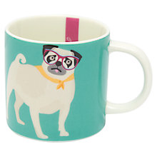 Buy Joules Cuppa Pug Mug, Aqua Online at johnlewis.com