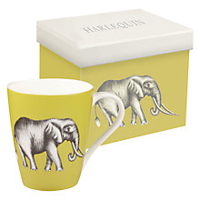Buy Harlequin Elephant Savanna Mug, Gooseberry Online at johnlewis.com