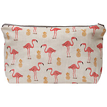 Buy Fenella Smith Flamingo and Pineapple Make-up Bag Online at johnlewis.com