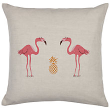 Buy Fenella Smith Flamingo and Pineapple Cushion Online at johnlewis.com