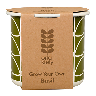 Orla Kiely Grow Your Own Basil Gardening Gift