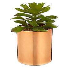 Buy John Lewis Artificial Cactus in Metallic Pot, 5.25 inches Online at johnlewis.com
