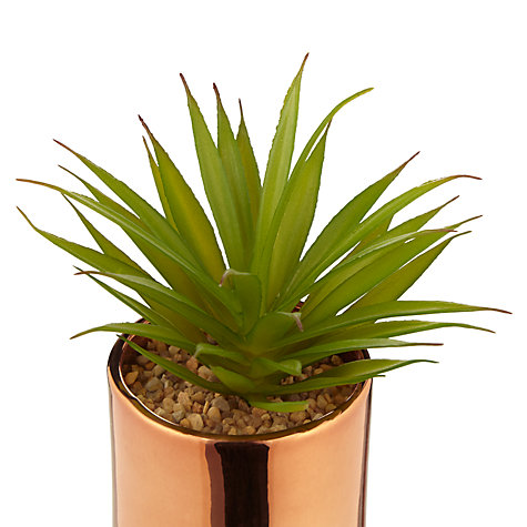 Buy John Lewis Artificial Cactus in Metallic Pot, 7 inches Online at johnlewis.com