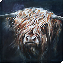 Buy Hilary Barker - Highland Bull Canvas Print, 60 x 60cm Online at johnlewis.com