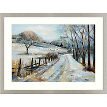 Buy Debbie Neill - Winter Road Framed Print, 107 x 81cm Online at johnlewis.com