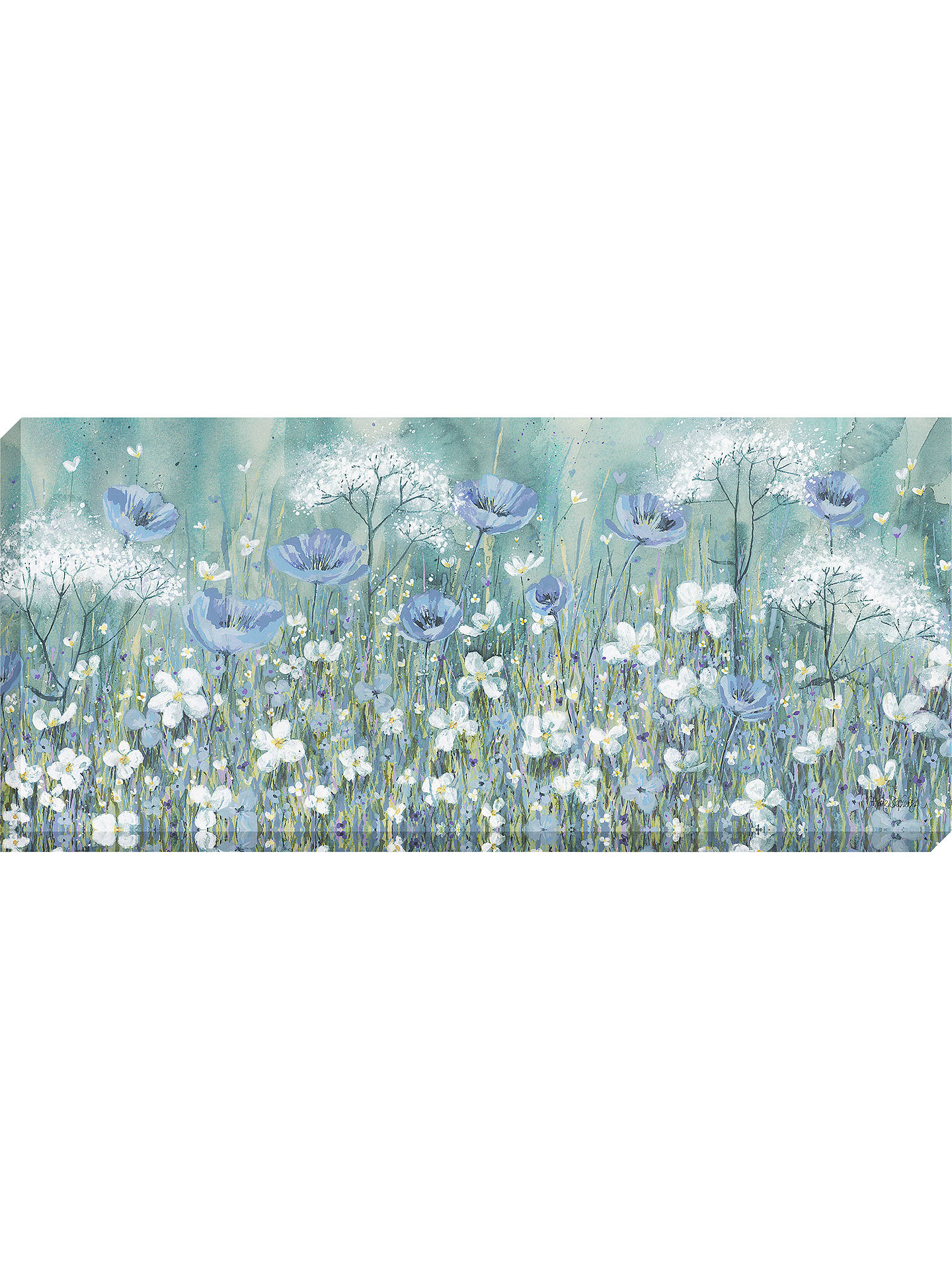 BuyCatherine Stephenson - Lavender Daisy Meadow Canvas Print, 135 x 60cm Online at johnlewis.com