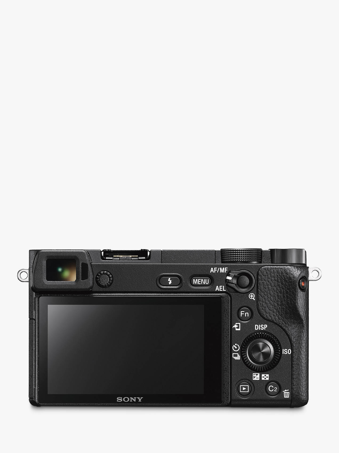 "BuySony A6300 Compact System Camera 4K Ultra HD, 24.2MP, 4D Focus, Wi-Fi, NFC, OLED EVF, 3"" Tilting Screen, Black, Body Only Online at johnlewis.com"