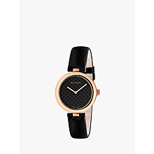 Buy Gucci YA140401 Women's Diamantissima Leather Strap, Black Online at johnlewis.com