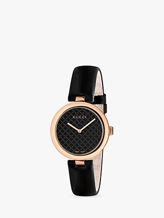 f45b99390e2 Gucci YA140401 Women s Diamantissima Leather Strap Watch