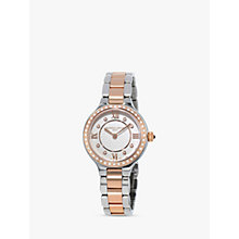 Buy Frédérique Constant FC-200WHD1ERD32B Women's Classics Delight Diamond Two Tone Bracelet Strap Watch, Silver/Rose Gold Online at johnlewis.com