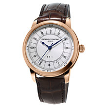 Buy Frédérique Constant FC-724CC4H4 Men's Manufacture Zodiac Rose Gold Plated Alligator Leather Strap Watch, Brown/White Online at johnlewis.com