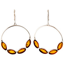 Buy Be-Jewelled Amber Hoop Drop Earrings Online at johnlewis.com