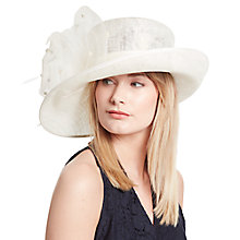 Buy John Lewis Lyla Bow Crin Occasion Hat, Cream Online at johnlewis.com