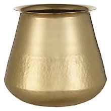 Buy John Lewis Hammered Decorative Pot, Gold Online at johnlewis.com