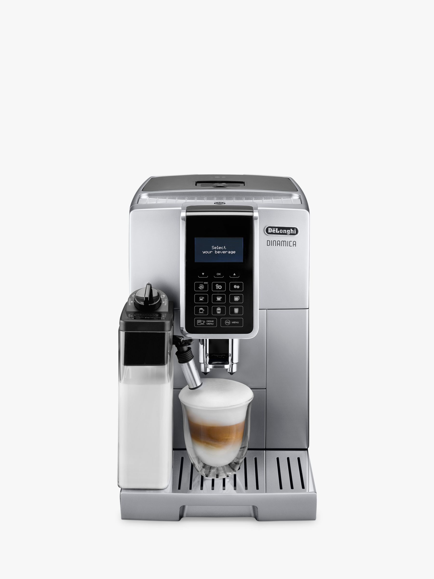 Delonghi De'Longhi ECAM350.75.SB Dinamica Bean-to-Cup Coffee Machine, Silver