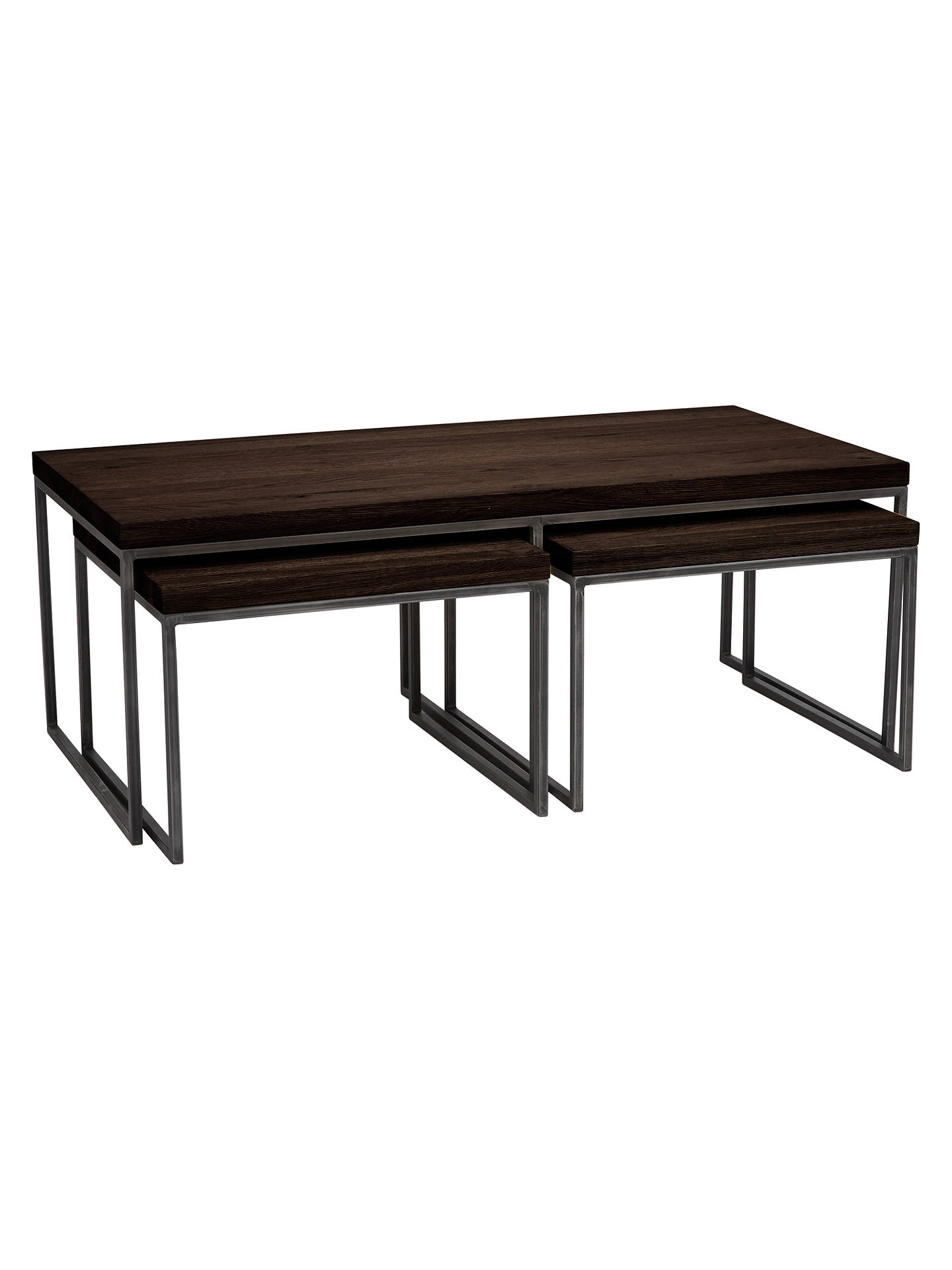 John Lewis Partners Calia Coffee Table With Nest Of 2 Tables Dark Online At