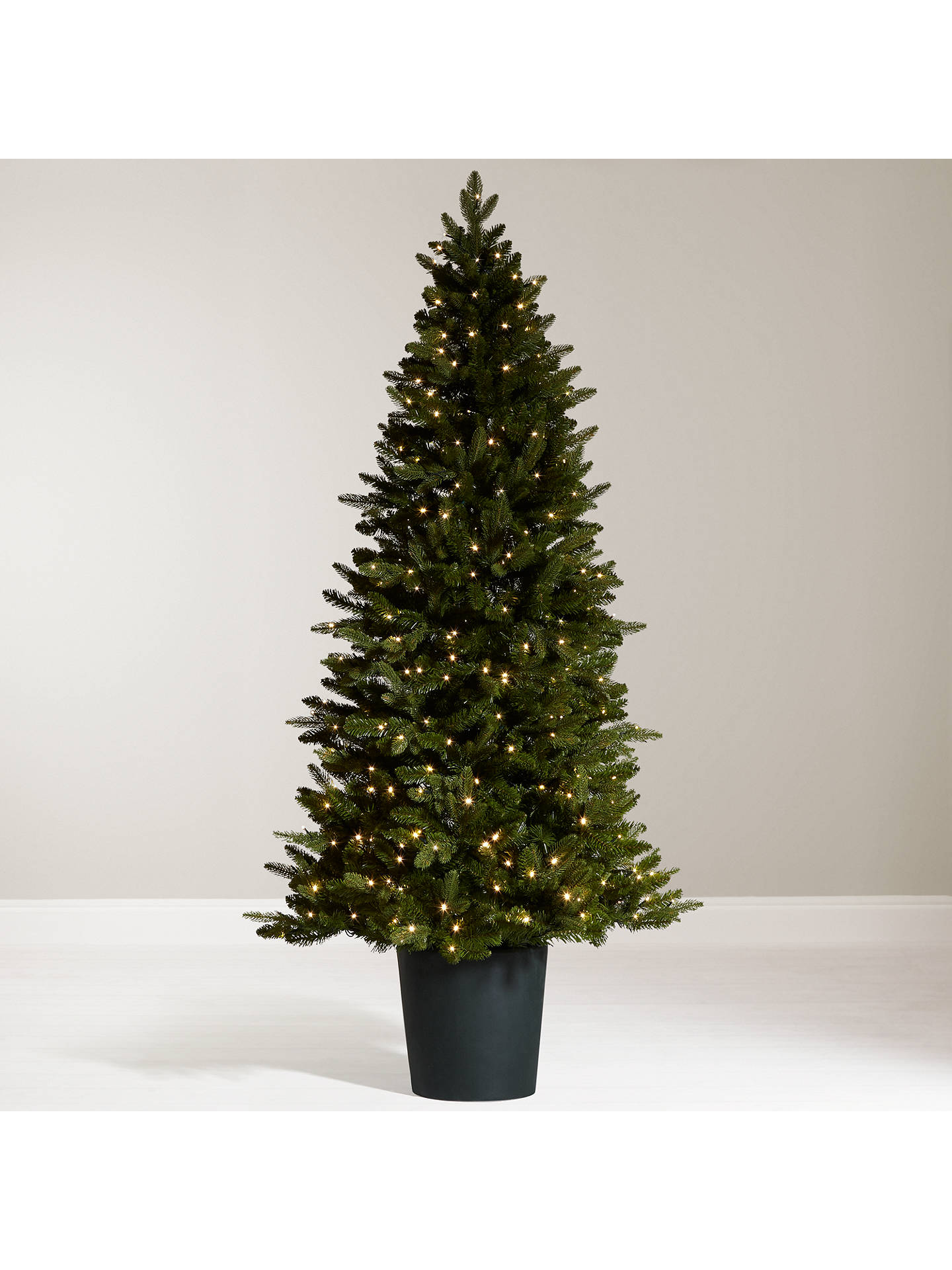 John Lewis Bala Pre Lit Potted Fir Christmas Tree 7ft At
