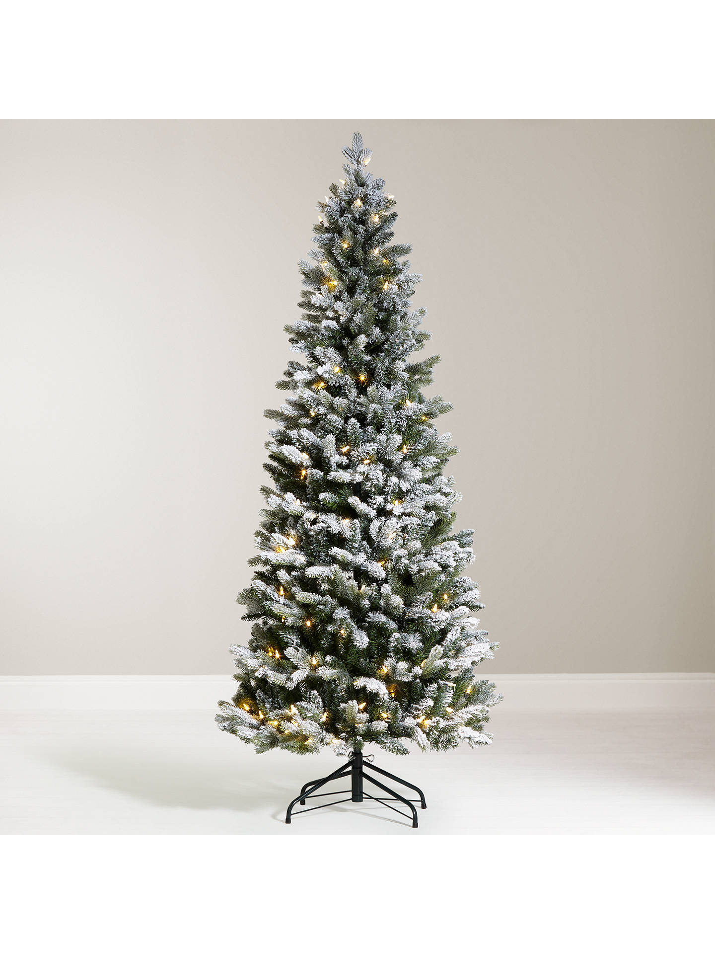 buyjohn lewis 6ft pre lit pop up space saver snowy christmas tree online - Pre Decorated Pop Up Christmas Trees