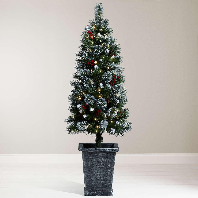 Outside Christmas Lights John Lewis: John Lewis Pre-Lit Potted Christmas Tree, 4.5ft At John Lewis