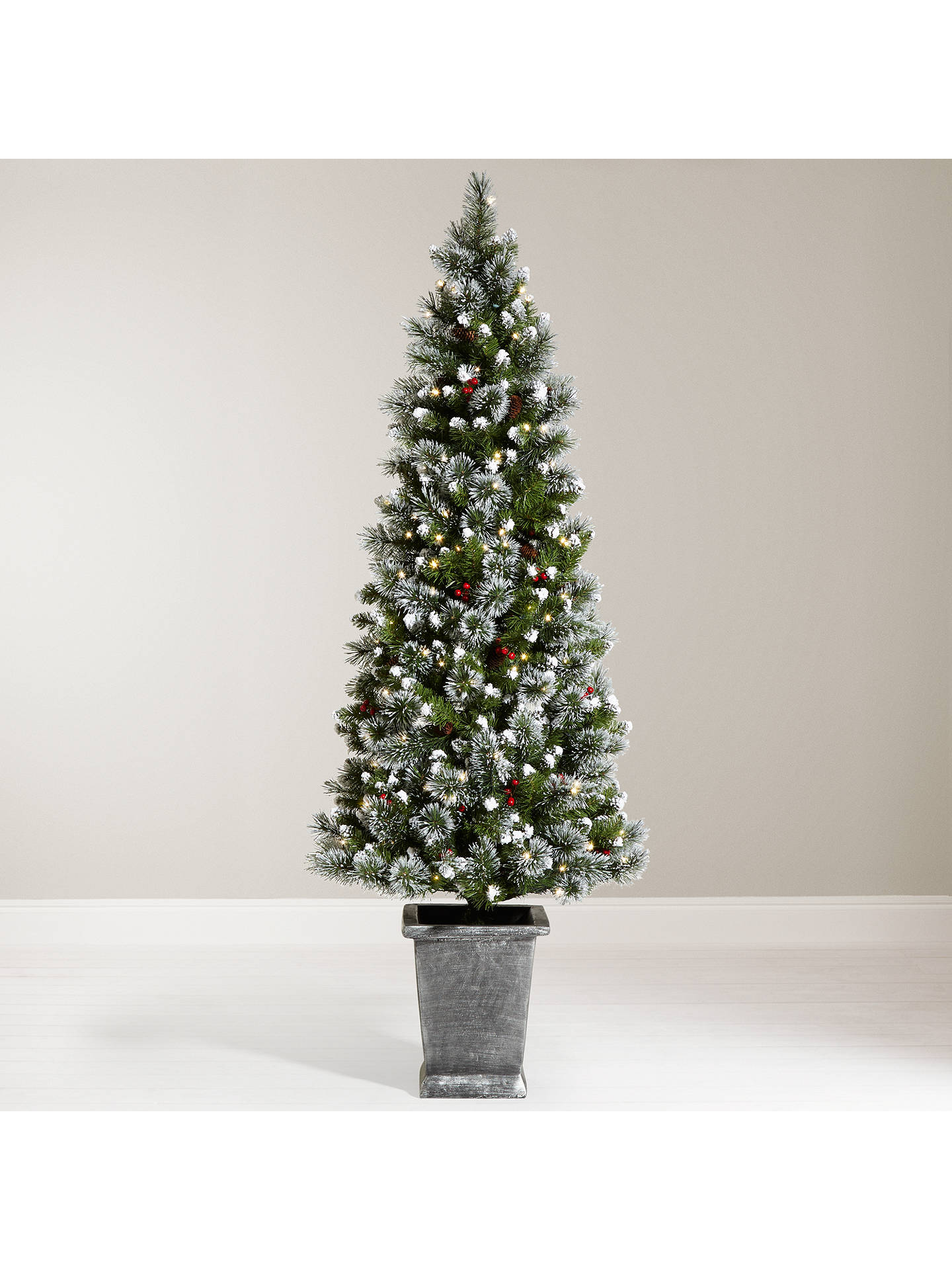 more photos dd8dd c5aef John Lewis & Partners Chamonix 6ft Pre-Lit Potted Christmas Tree