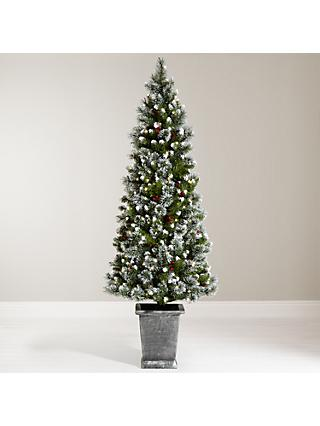 John Lewis & Partners Chamonix 6ft Pre-Lit Potted Christmas Tree