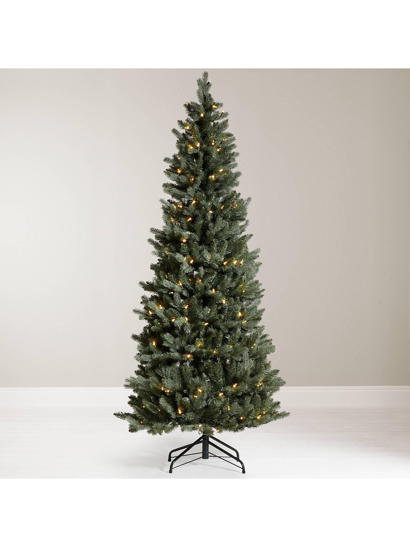 John Lewis Pre Lit Pop Up Space Saver Christmas Tree Blue Green
