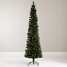 Buy John Lewis Pre-Lit Pencil Pine Christmas Tree, 7ft Online at johnlewis.com