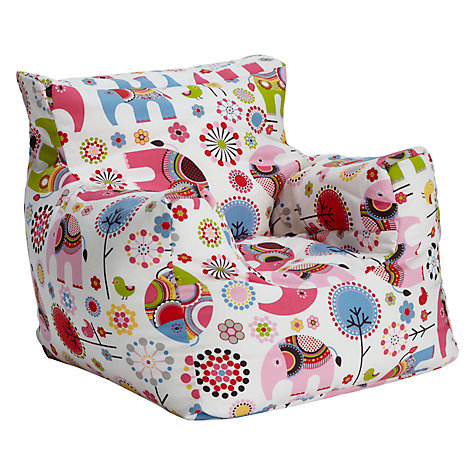 Buy Little Home At John Lewis Abbey Elephant Bean Bag Chair Online Johnlewis