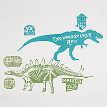 Buy little home at John Lewis Prehistoric Explorer Wall Stickers, Set of 14 Online at johnlewis.com