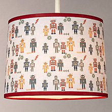 Buy little home at John Lewis Robots Lampshade Online at johnlewis.com