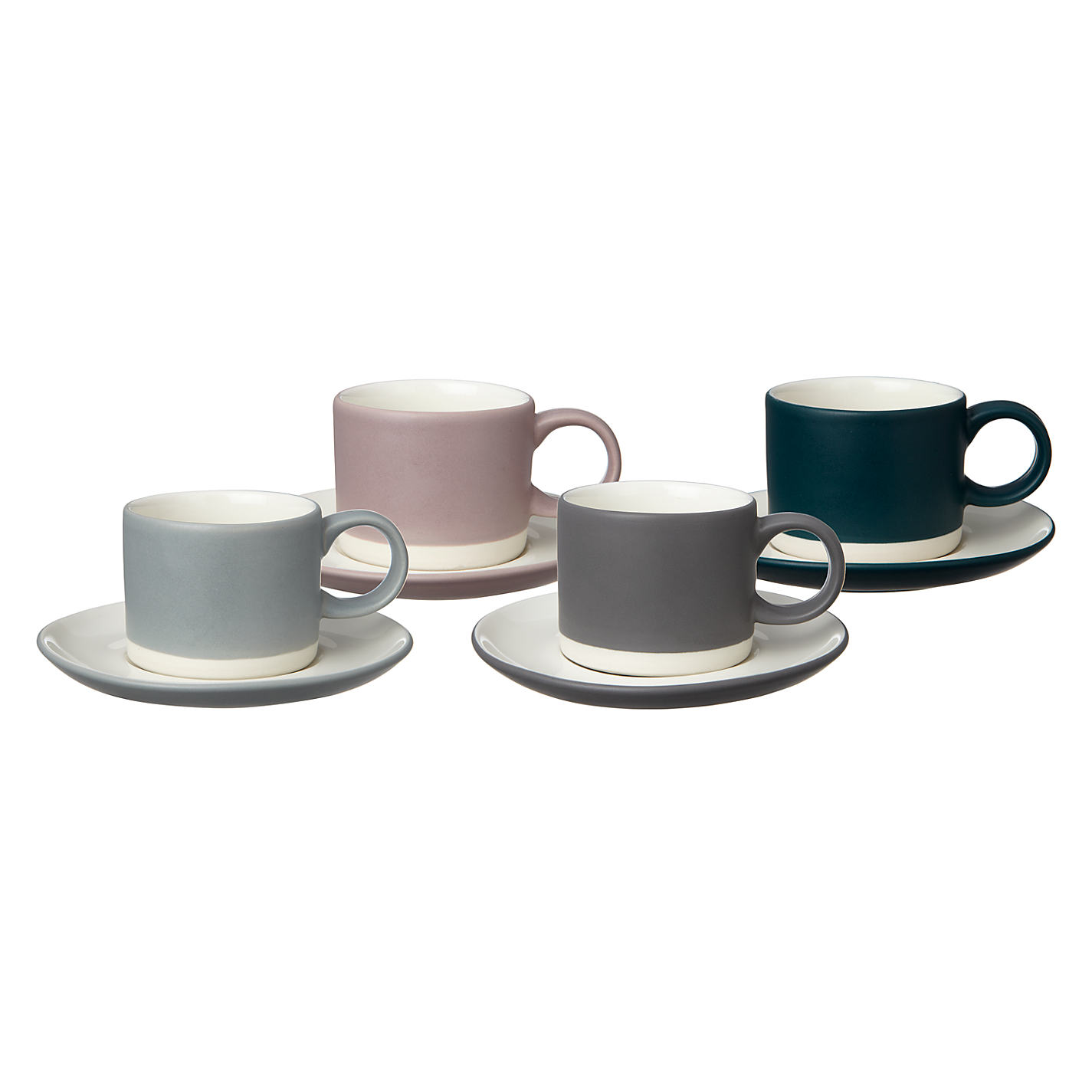 Glass espresso coffee cups uk - Buy John Lewis Croft Collection Espresso Cup Saucer Set Of 4 Online At Johnlewis