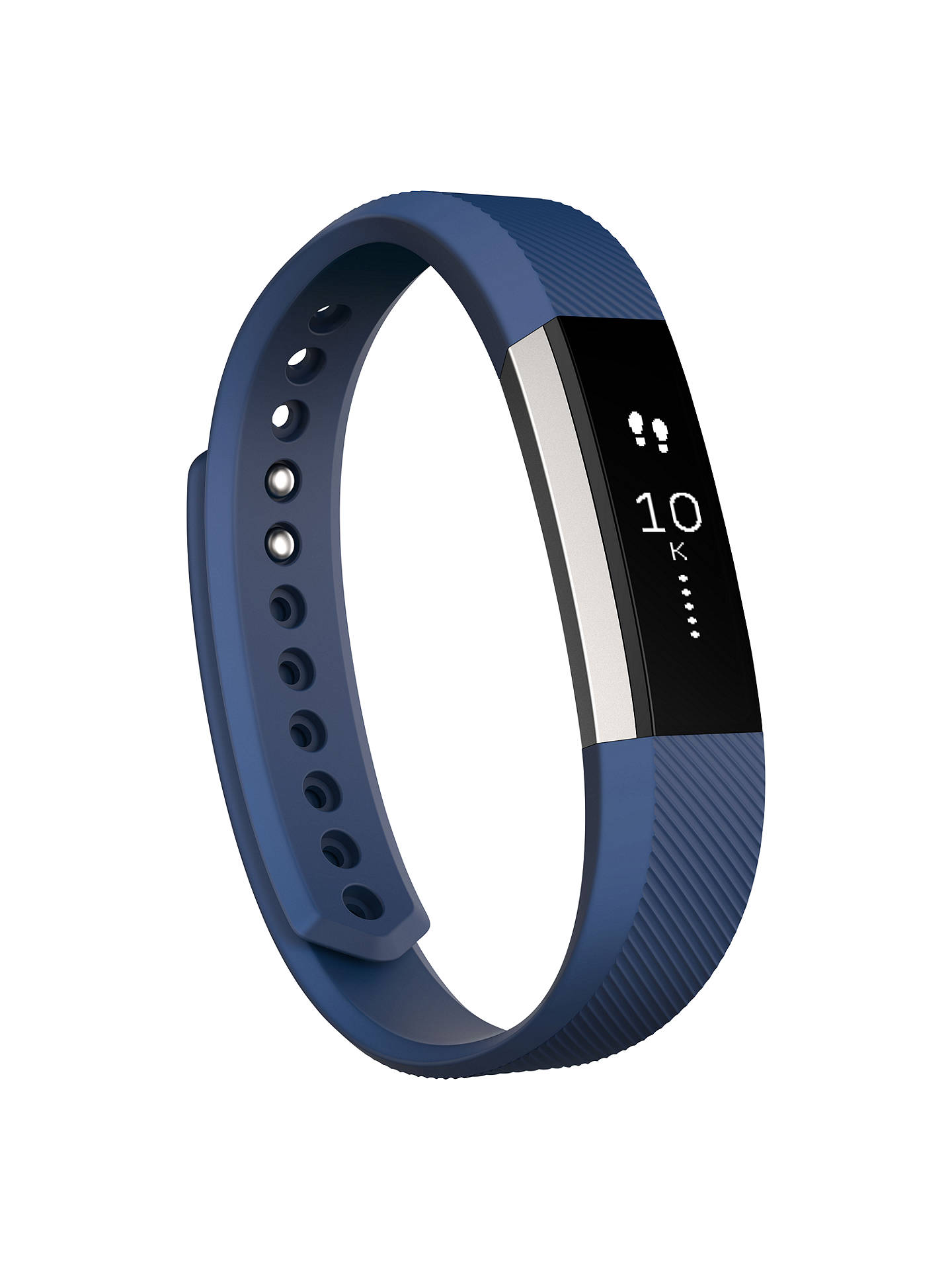 Buy Fitbit Alta Wireless Activity and Sleep Tracking Smart Fitness Watch, Large, Blue Online at johnlewis.com