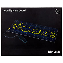 Buy John Lewis Neon Light Up Board Online at johnlewis.com
