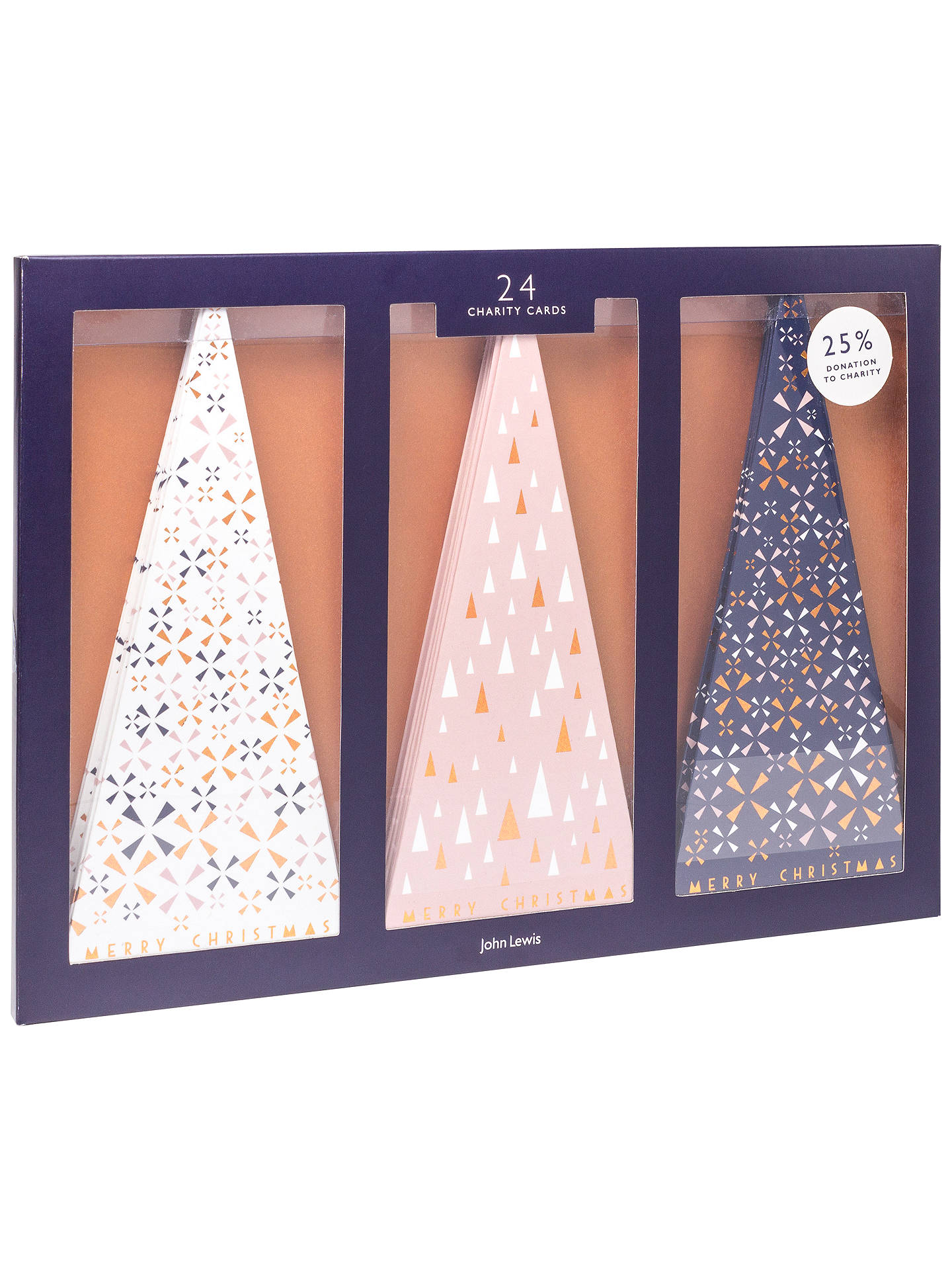 John Lewis Helsinki Trees Charity Christmas Cards, Pack of 24 at ...
