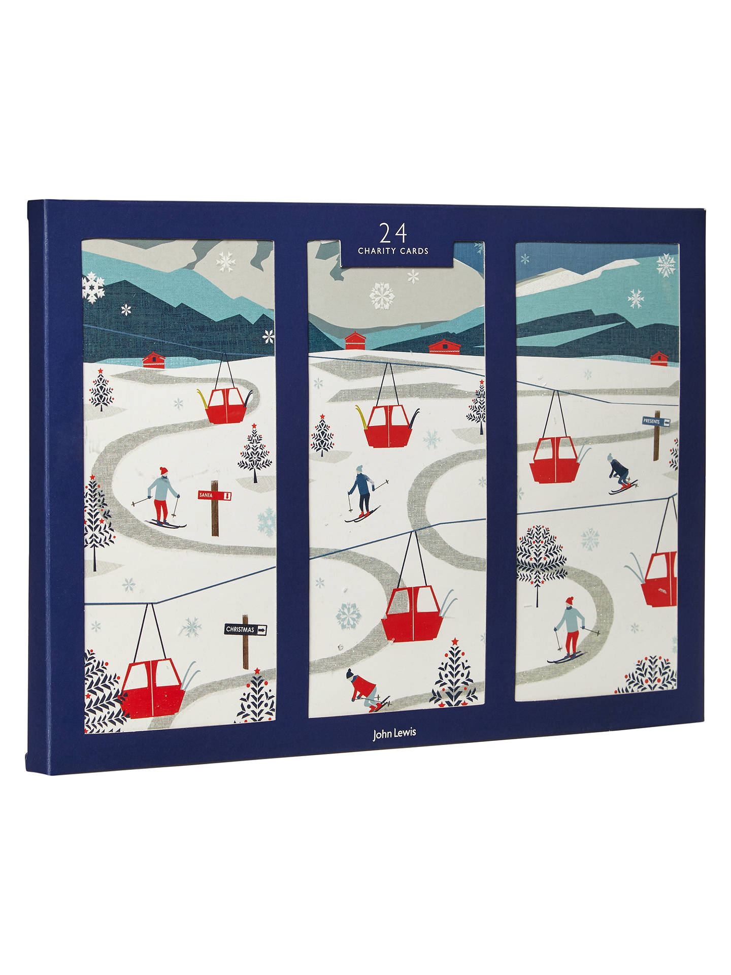 John Lewis Chamonix Ski Scene Charity Christmas Cards, Pack of 24 at ...