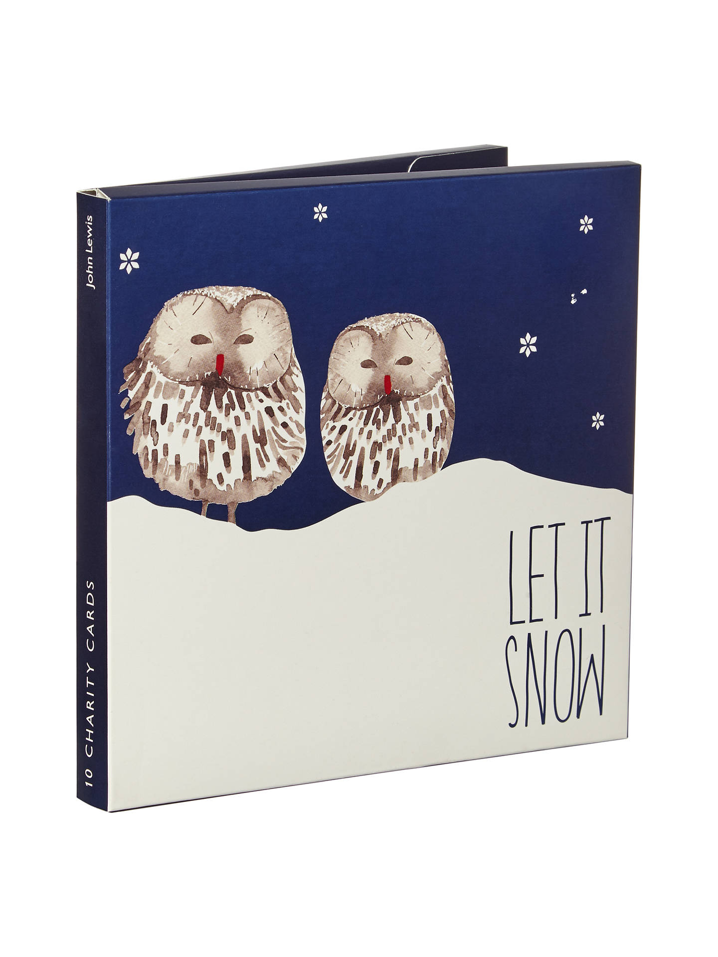 John Lewis Night Owl Charity Christmas Cards, Pack of 10 at John ...