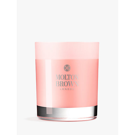 Buy Molton Brown Delicious Rhubarb & Rose Single Wick Candle, 180g Online at johnlewis.com
