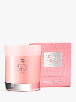 Molton Brown Delicious Rhubarb & Rose Single Wick Scented Candle, 180g