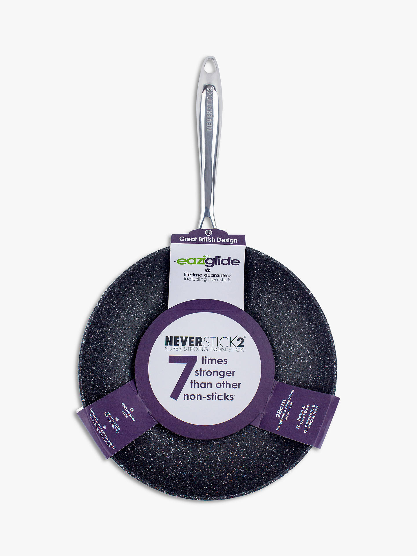 Buy Eaziglide Neverstick2 Non-Stick Open Wok, 28cm Online at johnlewis.com